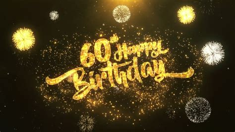60th Happy Birthday Greeting Card Stock Footage Video (100