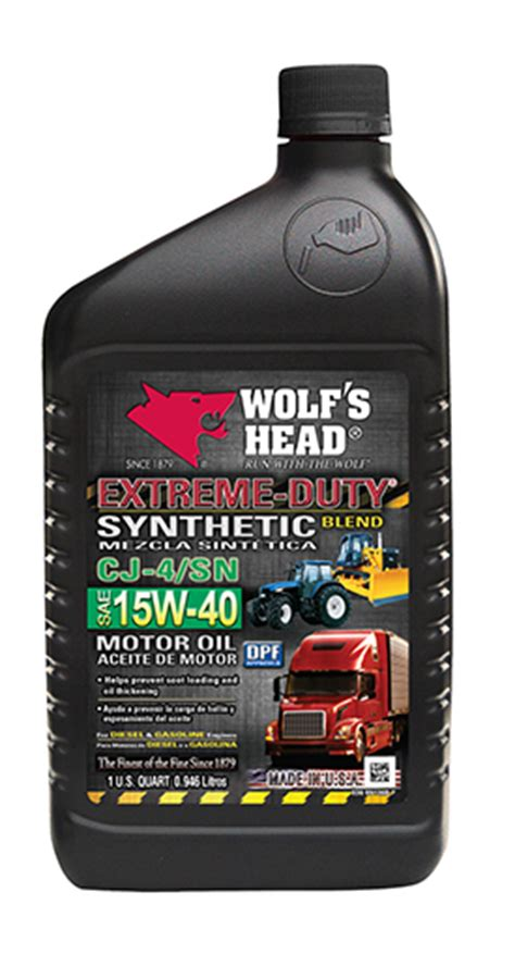 Extreme Duty Synthetic Blend 15w40 Qt