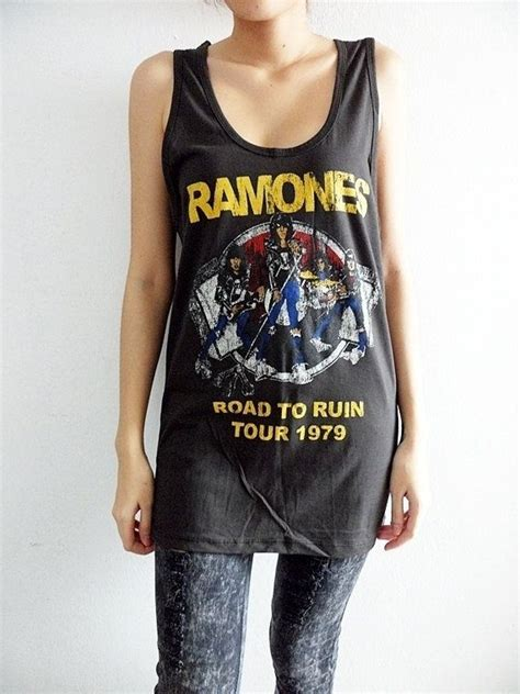 Ramones Road To Ruin Tour 70's Punk Rock T by