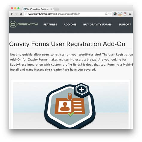 Gravity Forms User Registration Add-On-- Just $5