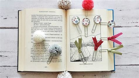 Minimalist Bookmarks from Paperclips - Mom With Five