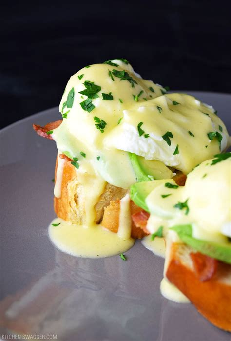 Eggs Benedict with Avocado Recipe | Kitchen Swagger