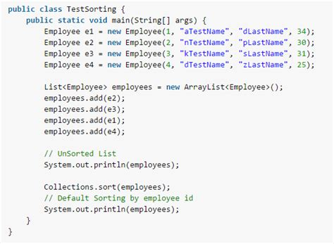 Java arraylist / object sorting with Comparable and
