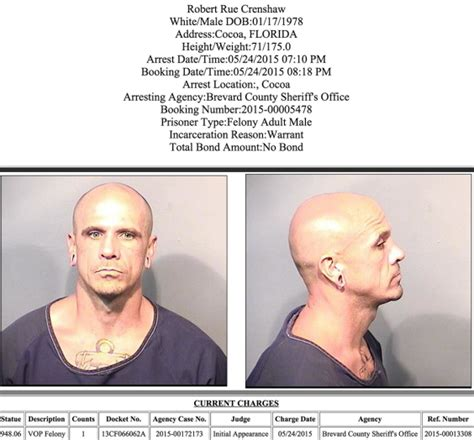 Arrests In Brevard County: May 24, 2015
