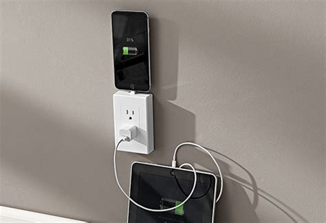 Multi-Charging Wall Outlet @ Sharper Image
