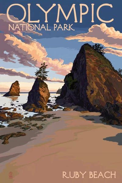 Olympic National Park (Ruby Beach) Canvas Art by Lantern