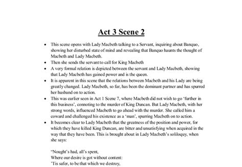 pointers for ioc on Act 3 Scene 2 from Macbeth - GCSE