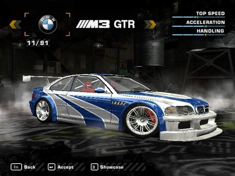 Need For Speed Most Wanted 2003 BMW M3 GTR E46 Mega Pack